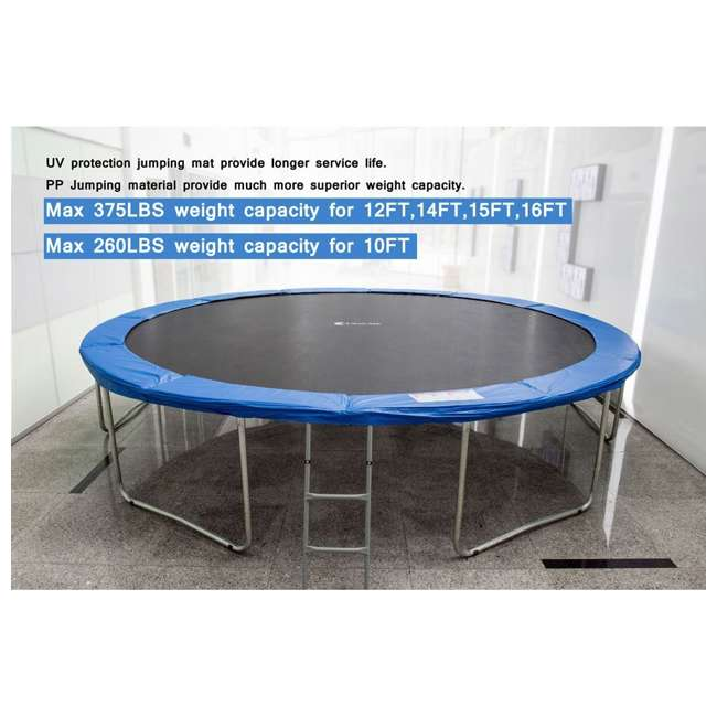 6180-T14COMBO ExacMe 14-Foot Trampoline w/ Safety Pad, Enclosure Net, & Ladder 4