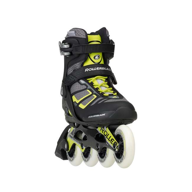 077340001A1-9 Rollerblade USA Macroblade 90 Men's Adult Fitness Inline Skates Size 9, Lime