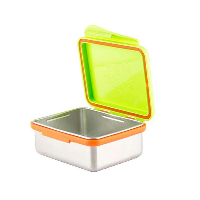 894148002817+89414802930+894148002978+894148002114 Kid Basix 23oz Lunch Box + 13oz and 7oz Containers + 12oz Water Bottle, Lime 4