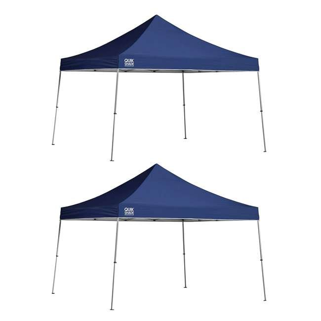 QS-157370DS ShelterLogic 12' x 12' Straight Leg Pop Up Canopy, Blue (2 Pack)