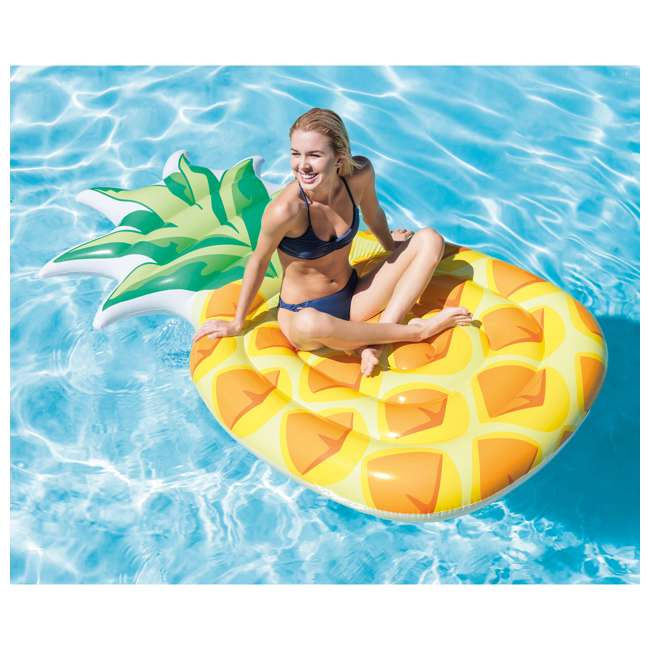 58761EP-U-B Intex 85 x 49 Inch Giant Inflatable One Person Pineapple Pool Float Mat (Used) 1