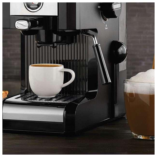 BVMCECMPT1000 Mr. Coffee Easy Maker Authentic Espresso Machine w/ Auto Tamp Technology, Black 4