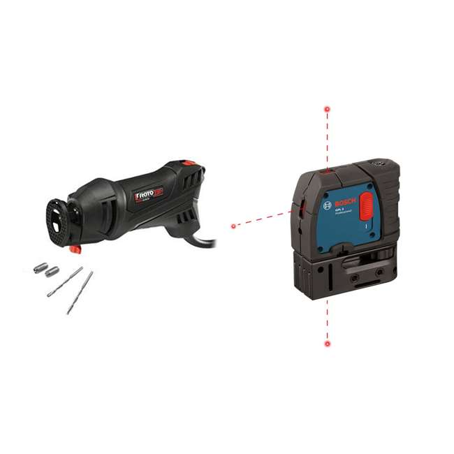 SS355-10-RT-RB + GPL3-RT-RB RotoZip RotoSaw & Bosch Level Laser (Certified Refurbished)