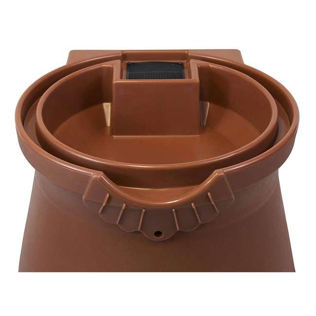 RWURN50-TC Good Ideas Rain Wizard Barrel Urn 50 Gallons, Terra Cotta 3