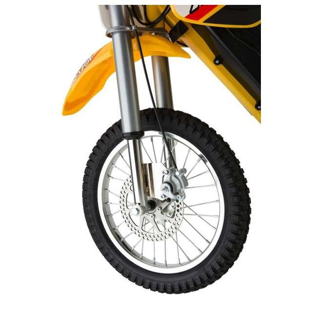15165070 + 97775 + 96785 Razor MX650 Dirt Rocket Electric Moto Bike with Helmet, Elbow & Knee Pads 10