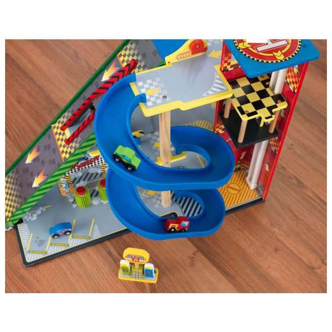 63267-U-A KidKraft Kids Mega Ramp Racing Set for Matchbox and Hotwheels Cars (Open Box) 6