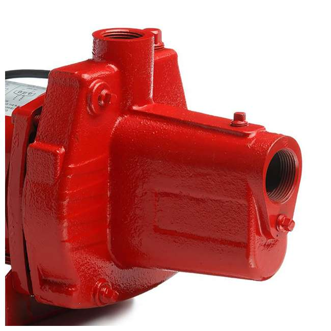 RL-602206-U-C Red Lion RJS-50-PREM .5HP Cast Iron Thermoplastic Shallow Jet Pump (For Parts) 4