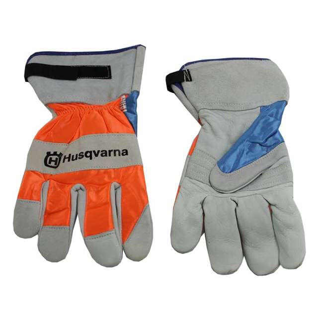505642210 Husqvarna 505642210 Heavy Duty Leather Work Chain Saw Protective Gloves (Pair) 1