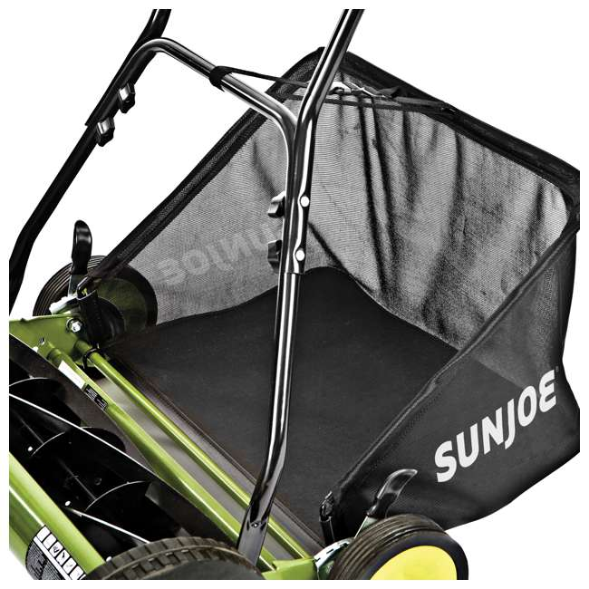 "SUJ-MJ501M-U-B Sun Joe Manual Reel 18"" Push Behind Lawn Mower w/ Grass Catcher, Green (Used) 6"