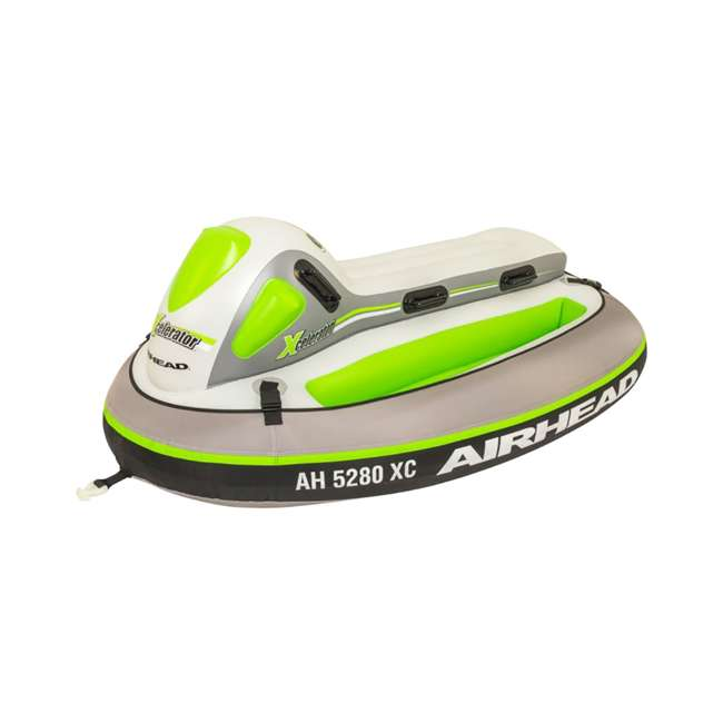 AHXC-02-U-A Sportsstuff Xcelerator 2 Person Water Lake Ocean Towable Ride On Tube (Open Box)