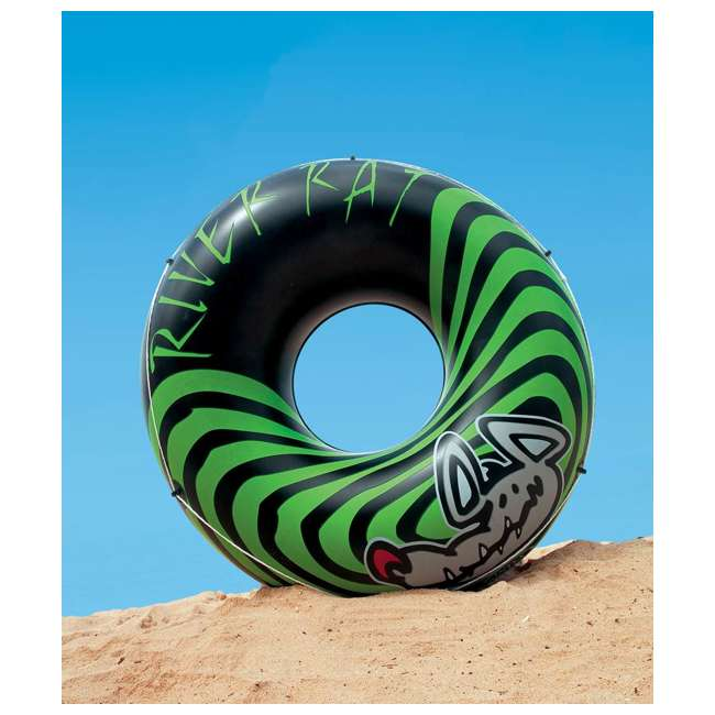 9 x 68209EP INTEX River Rat Inflatable Floating Tube Raft (Open Box) (9 Pack) 1