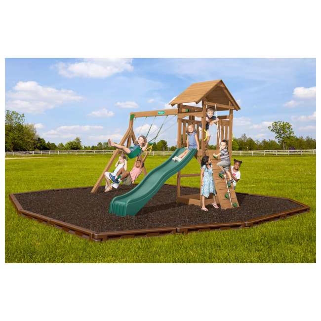 PS18RAL Creative Playthings PS18RAL Raleigh Kids Wooden Outdoor Swing Set Playground 2