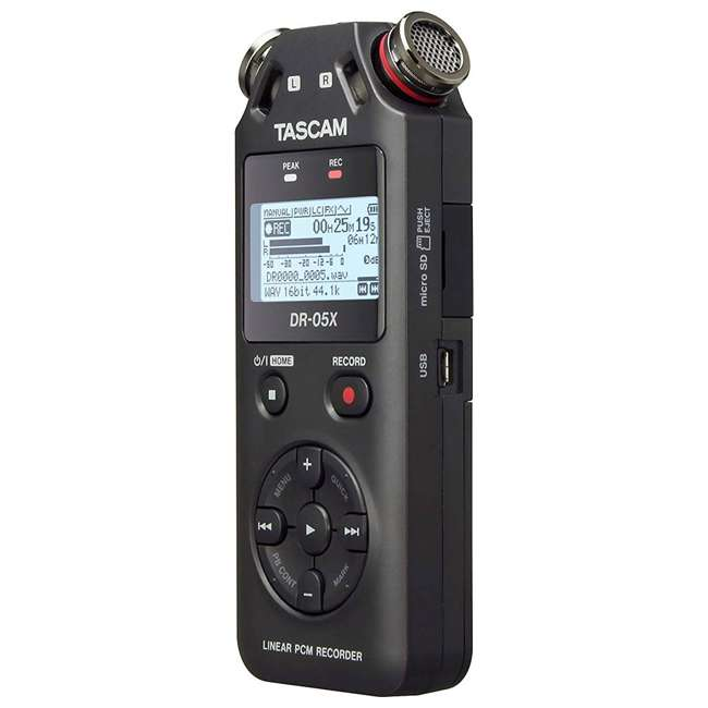 DR-05X + SD4-16GB-SAN + TH02-B Tascam Audio Recorder, SanDisk 16GB Memory Card, & Tascam Recording Headphones 2