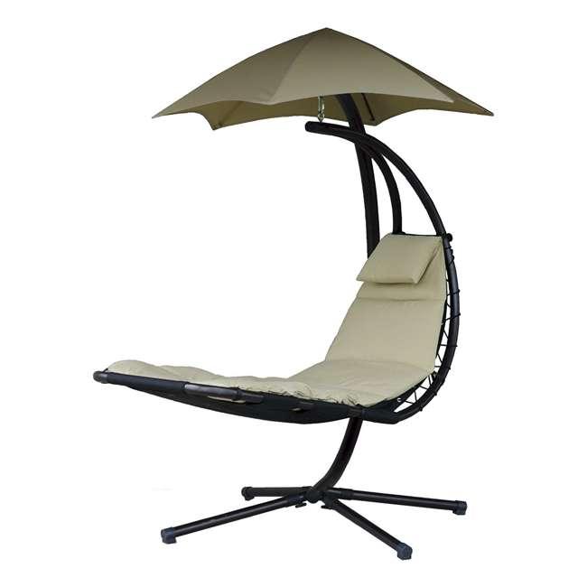 DREAM-SD Vivere The Original Dream Lounger Steel Backyard Patio Deck Chair, Sand Dune