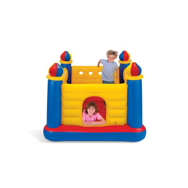 48259EP-U-A INTEX Inflatable Jump-O-Lene Ball Pit Castle Bouncer (Open Box) (2 Pack) 1