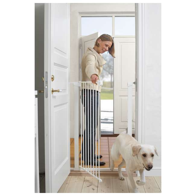 BBD-50914-2490 + BBD-5834-2400 BabyDan Scandinavian 31 Inch Pet Safety Gate & 2-Pack Gate Extensions, White 3