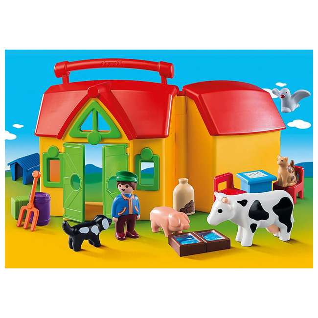 6962 Playmobil 6962 My Take Along Farm Doll House & Interactive Action Figures Set 1