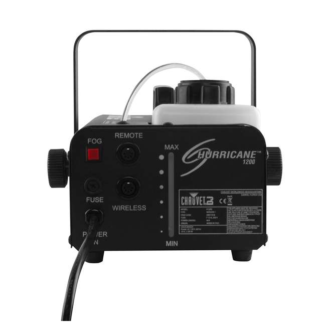 H1200 + FJU + MINISTROBE-LED + BLACK-24BLB CHAUVET DJ Hurricane Fog Machine + Fog Juice + Mini Strobe Light + Black Light 3