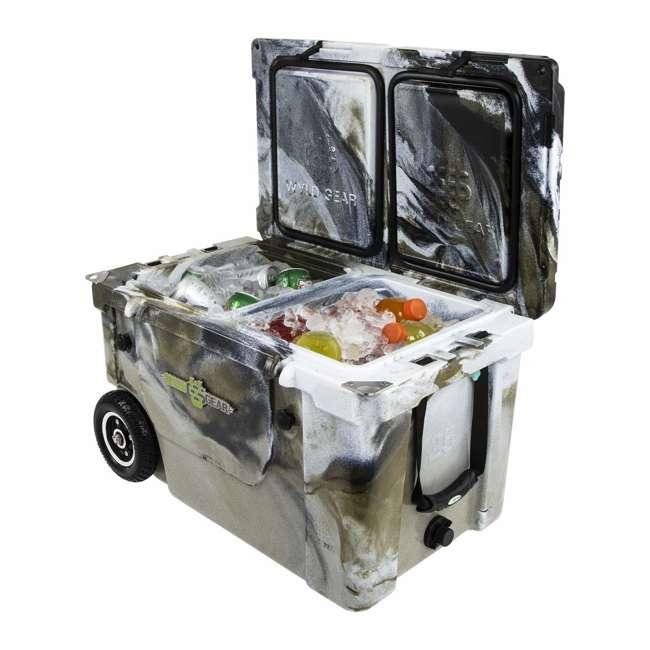 HC50-17P WYLD HC50-17P 50 Qt. Dual Compartment Insulated Cooler w/ Wheels, Prairie Camo 3