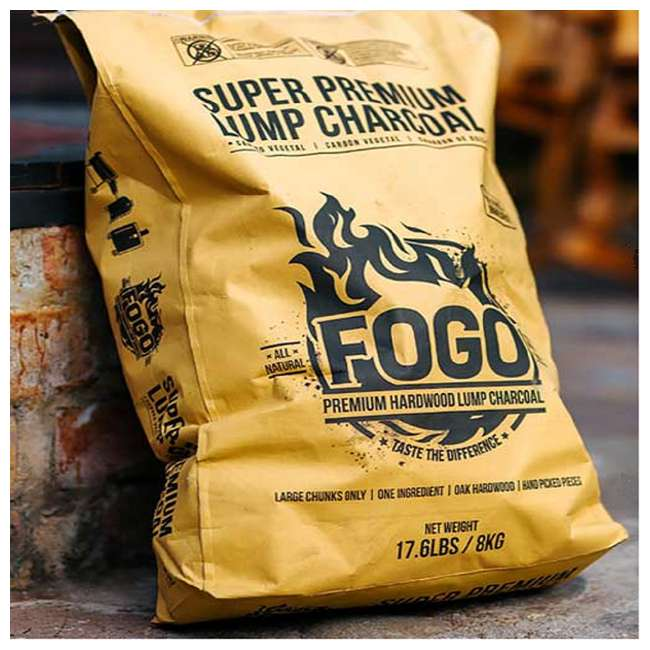 FG-CH-FP-17 FOGO Super Premium Oak Restaurant All-Natural Hardwood Lump Charcoal, 17.6 Pounds 3