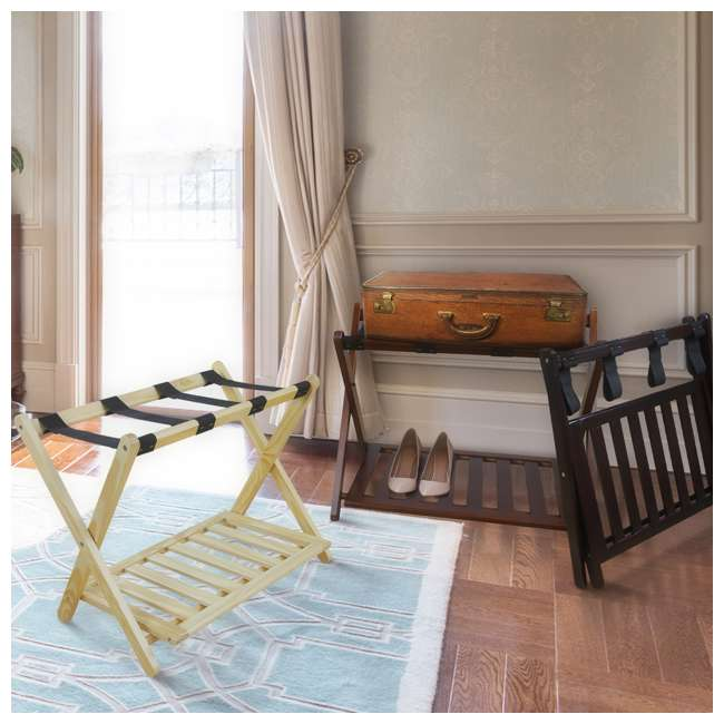 102-20 Casual Home Luggage Rack, Natural 6