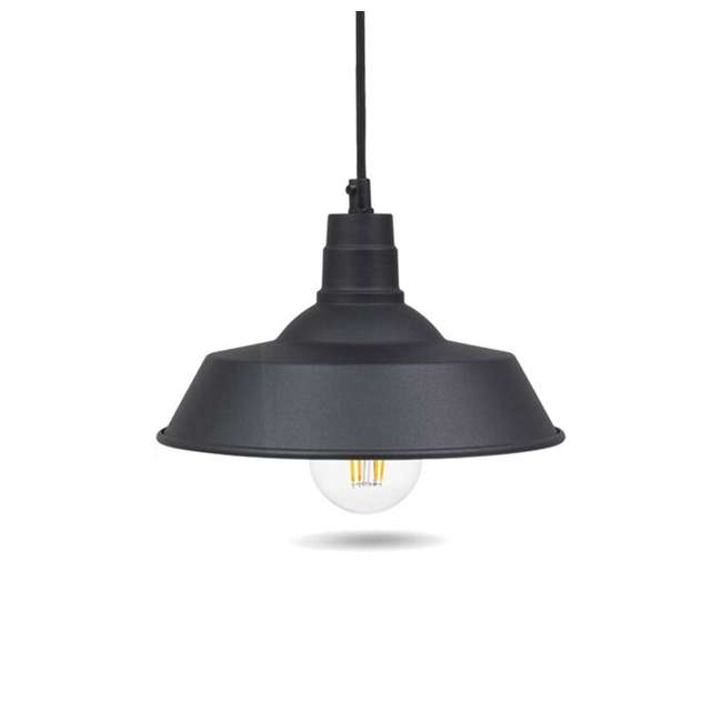 SYL-60053-U-A Sylvania LED Dimmable 60W Hudson Factory 12 Inch Pendant A19 Light (Open Box) 1