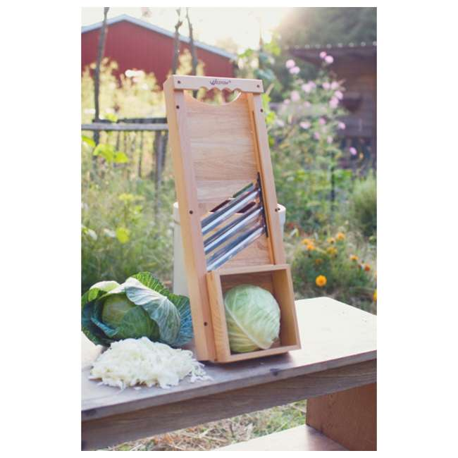 70-1401-W Weston Wooden Cabbage Shredder Slicer 3