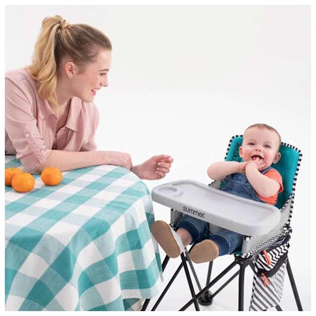 22544 Summer Infant 22544 Pop 'n Dine Sweet Life Edition Portable Highchair, Pink 3