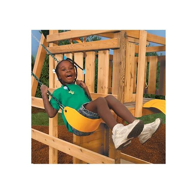 PS 7948 Playstar PS 7948 Children's Flexible Swing Seat with Covered Chains, Yellow 2