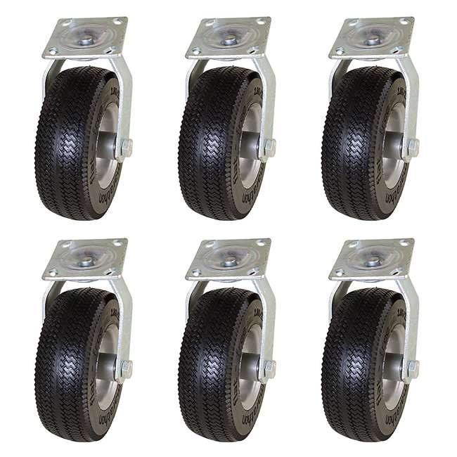 6 x MRTN-00316 Marathon Tire 8-Inch Swivel Caster with Flat Free Tire (6 Pack)