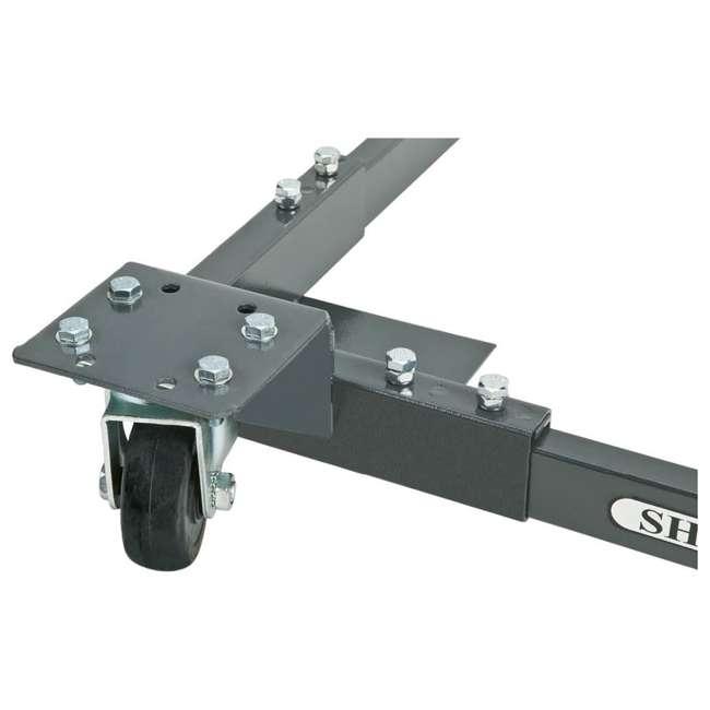 D2057A Shop Fox Heavy Duty Mobile Adjustable Base 700 Pound Capacity 2