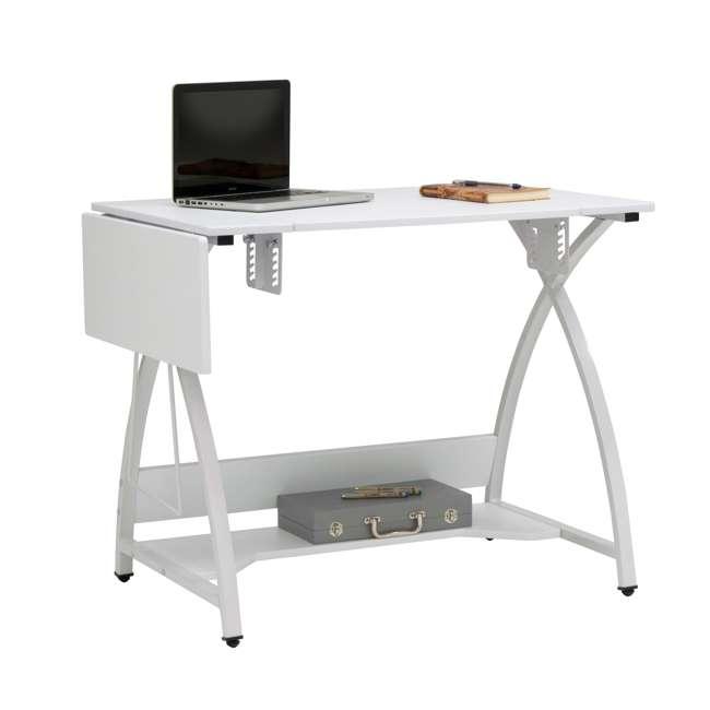 STDN-38017 Sew Ready STDN-38017 Venus Sewing Machine Craft Hobby Table Computer Desk, White 11