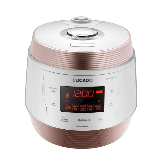 CMC -QSB501S Cuckoo Q5 Premium 8-in-1 Multicooker Steel Q50 Non-Stick Coating, White