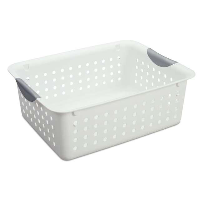 72 x 16248006-U-A Sterilite 16248006 Medium Ultra Plastic Storage Bin Organizer -White (72 Pack)