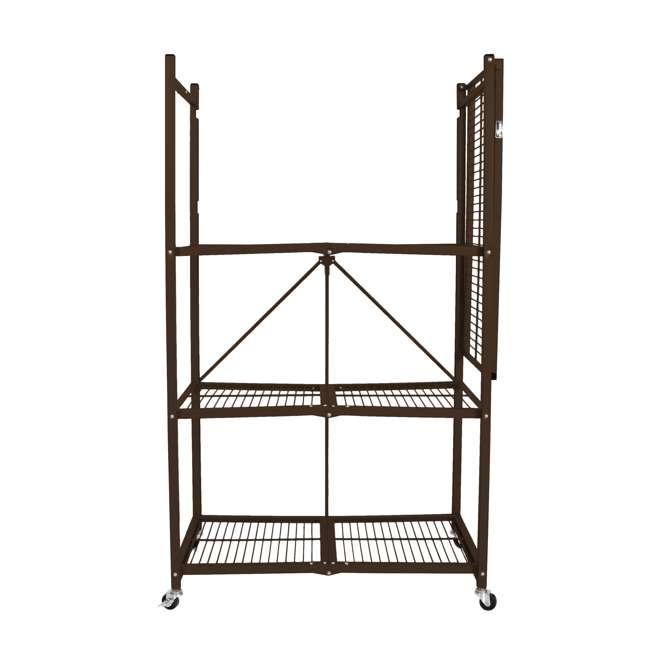 R5-VBW-2 Origami 4-Shelf Foldable Storage Racks, Vintage Bronze (Pair) 3