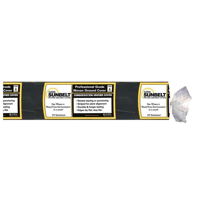 DWT-SBLT3300-U-A DeWitt Sunbelt 3' Woven Weed Barrier Fabric Cover, 300 Feet (Open Box) (2 Pack) 1