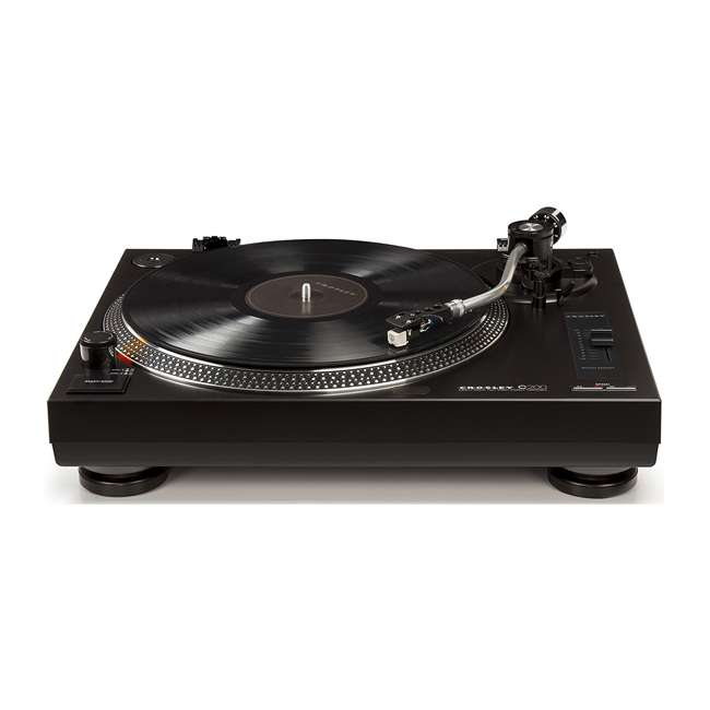C200A-BK Crosley C200 2-Speed Preamp Record Player Turntable, Black 3