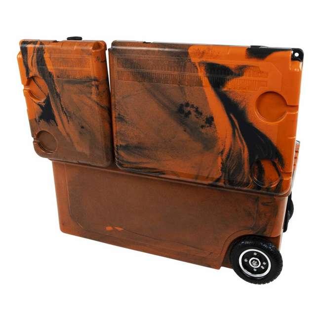 HC75-17OB WYLD 75 Quart Pioneer Dual Compartment Insulated Cooler w/ Wheels, Orange/Black 3