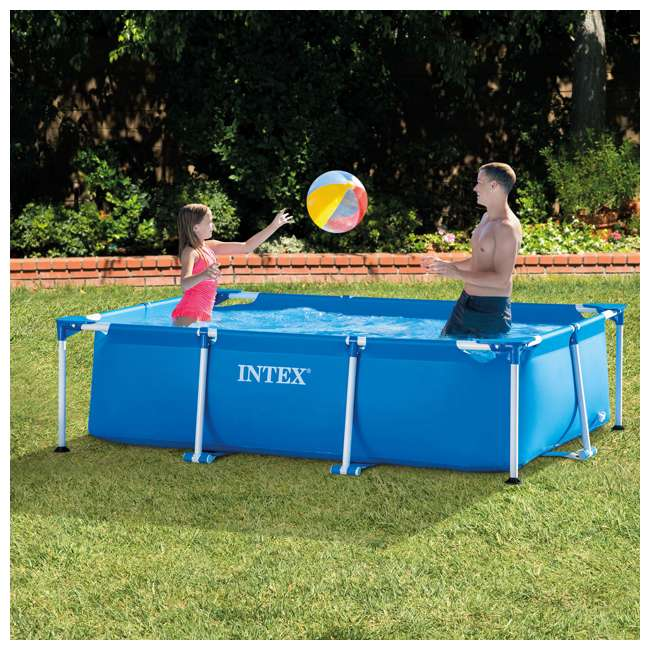 28271EH-U-A Intex 8.5x5.3x2.13 Rectangular Above Ground Backyard Pool (Open Box) (2 Pack) 2