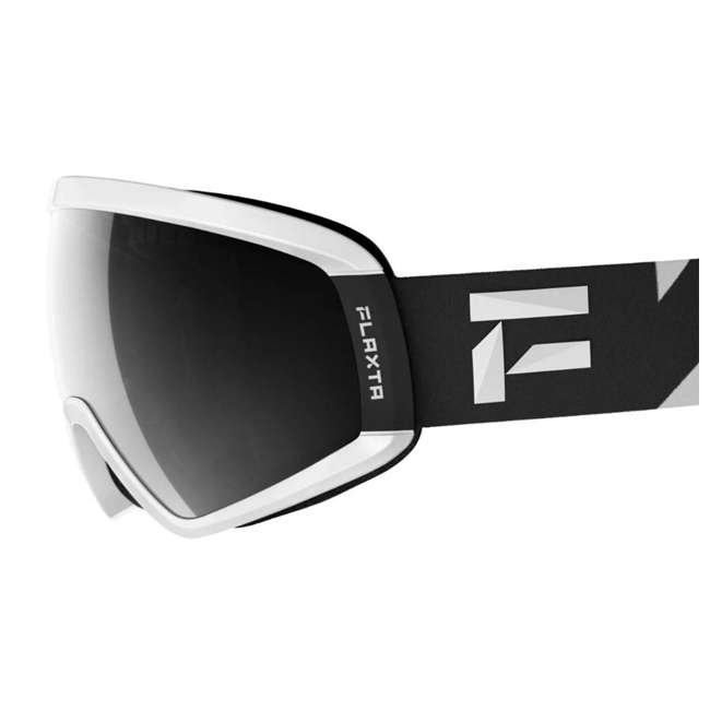 FX801001020ONE Flaxta Continuous Peripheral Vision Snowboard and Ski Goggles, Black and White 1