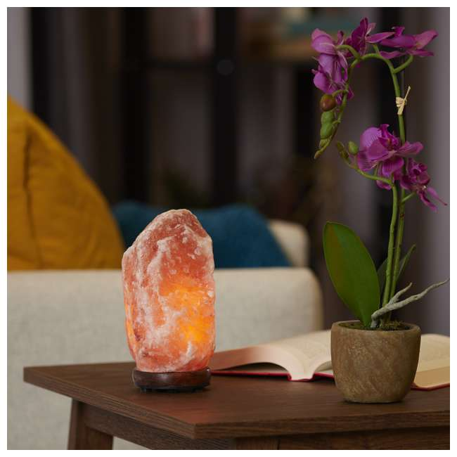 Heart of Himalayan Salt Lamp Salacia Heart of the Himalayan Electric Salt Lamp Light w/ Dimmer, Pink (2 Pack) 2