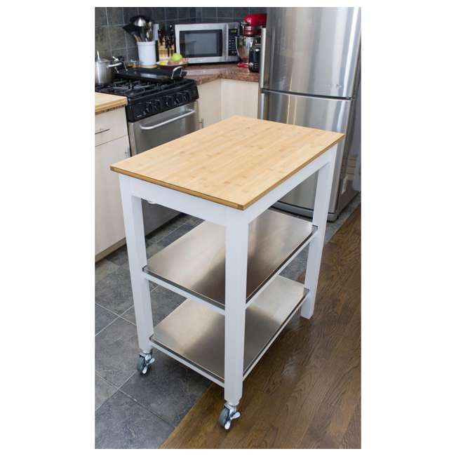 CSK-850 SpaceMaster Kitchen Cart with Bamboo Chopping Block  5