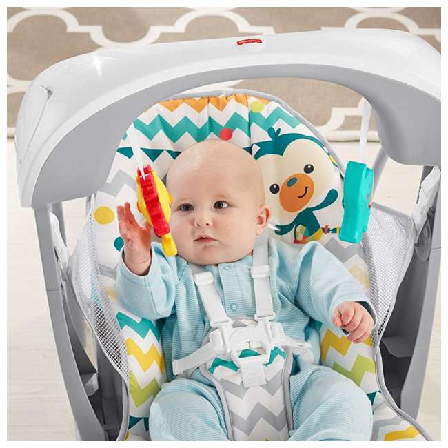 DPV46 Fisher Price Colorful Carnival Take-Along Infant Swing and Seat (2 Pack) 3