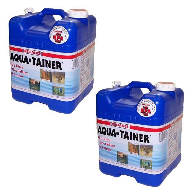 9410-24 Reliance Products Aqua Tainer 7 Gallon Drinking Water Storage Container Tank (2 Pack)