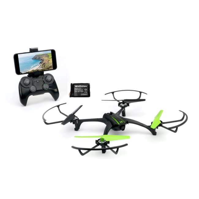 SKY-01848 + SKY-01846 Sky Viper Scout Live Streaming Video Drone & Battery Pack