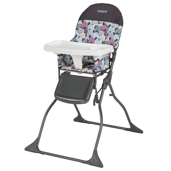 HC225EDR Cosco Simple Fold Full Size High Chair with Adjustable Tray, Elephant Puzzle