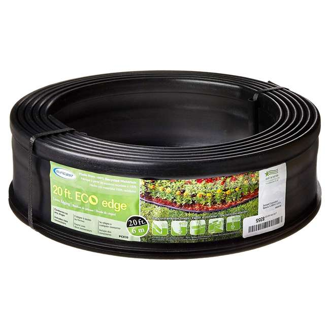 CPLPCE2040 Suncast Eco Edge 20-Foot Coiled Edging Roll, 5-inch Height