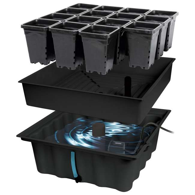 MGSYS Hydrofarm 22 x 22 Inches Megagarden System with Ebb and Flow System (Open Box) 1