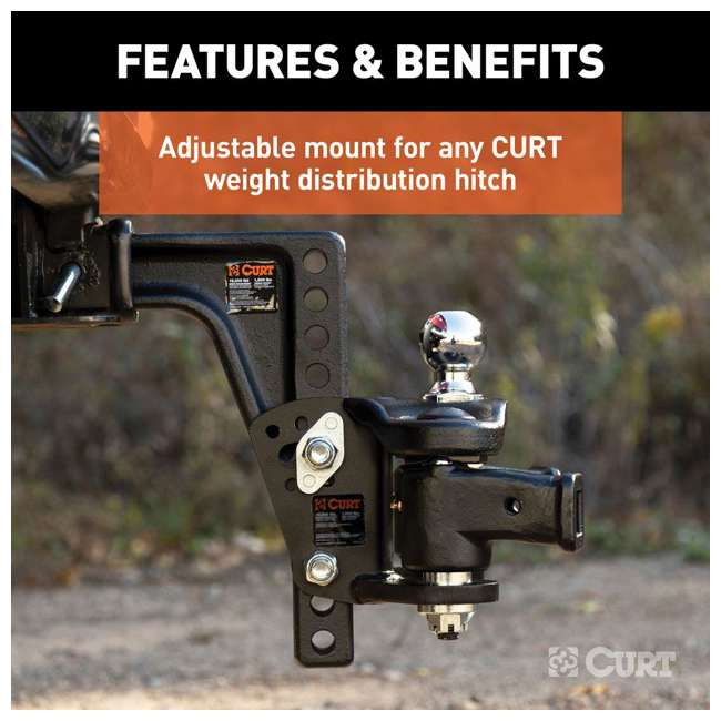17132 Curt Adjustable Weight Distribution Hitch Shank Replacement for Towing 17132 3