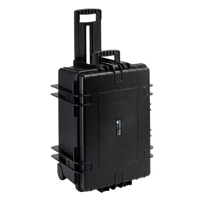 6800/B/RPD + CS/3000 B&W 70.9L Plastic Waterproof Case w/ Wheels, RPD Insert & Shoulder Strap, Black 4